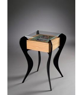 GOTHAM – Coppia di tavolini con cassetto