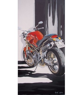 A MOTORCYCLE AND ITS SHADOW