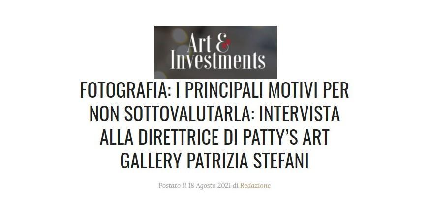 I principali motivi per non sottovalutare la fotografia - Intervista alla direttrice di Patty's Art Gallery