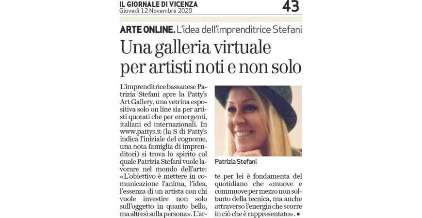 Newspaper of Vicenza - A virtual gallery for well known artists and not only